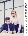 two business colleagues working ...   Shutterstock . vector #1230315388