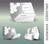 3d booth registration modern... | Shutterstock .eps vector #1230317665