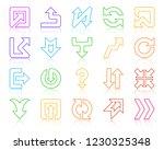 arrow thin line icon set.... | Shutterstock .eps vector #1230325348