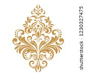 damask graphic ornament. floral ... | Shutterstock .eps vector #1230327475