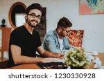 two talanted artist freelancer... | Shutterstock . vector #1230330928