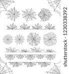 simple linear black cobweb... | Shutterstock .eps vector #1230338392