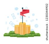 pile of money with flag and set ... | Shutterstock .eps vector #1230344902