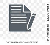 copywriting icon. trendy flat... | Shutterstock .eps vector #1230349855