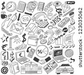 business doodles collection | Shutterstock .eps vector #123035062