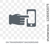 command on and off gesture icon.... | Shutterstock .eps vector #1230352075