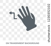 turn left gesture icon. trendy... | Shutterstock .eps vector #1230352102