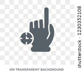 touch and hold icon. trendy...   Shutterstock .eps vector #1230352108