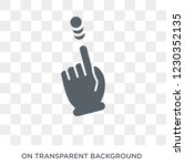 touch and upward slide icon....   Shutterstock .eps vector #1230352135