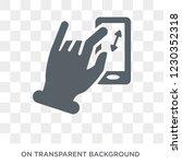 enlarge touch screen gesture...   Shutterstock .eps vector #1230352318