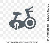 stationary bike icon. trendy... | Shutterstock .eps vector #1230356722