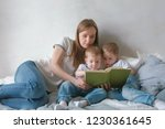 family mom and two twin...   Shutterstock . vector #1230361645