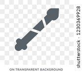 spear icon. trendy flat vector... | Shutterstock .eps vector #1230369928