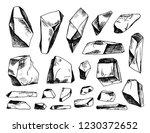 stones vector sketch set of... | Shutterstock .eps vector #1230372652