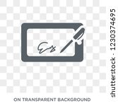 electronic signature icon.... | Shutterstock .eps vector #1230374695