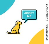 adopt me design poster with dog.... | Shutterstock .eps vector #1230379645
