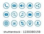 web icon set vector  contact... | Shutterstock .eps vector #1230380158
