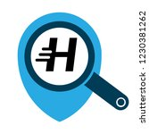 letter h and map pin. logo...