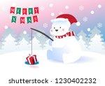 merry christmas polar bears... | Shutterstock .eps vector #1230402232