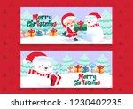 merry christmas polar bears... | Shutterstock .eps vector #1230402235