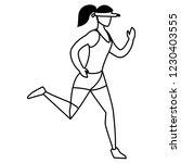 fitness girl running design | Shutterstock .eps vector #1230403555