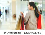 lifestyle shopping concept ... | Shutterstock . vector #1230403768