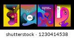 set of liquid color abstract... | Shutterstock .eps vector #1230414538