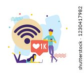 flat design vector colorful... | Shutterstock .eps vector #1230417982