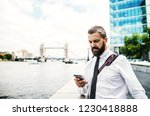 hipster businessman with...   Shutterstock . vector #1230418888