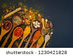 spices and herbs for cooking...   Shutterstock . vector #1230421828