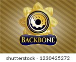 shiny emblem with donut icon... | Shutterstock .eps vector #1230425272