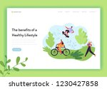 healthy lifestyle landing page... | Shutterstock .eps vector #1230427858