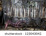 Fish Hanging Up To Dry At The...