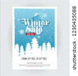 a4 size winter sale  offer... | Shutterstock .eps vector #1230435088