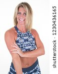fitness middle aged 40 woman in ...   Shutterstock . vector #1230436165