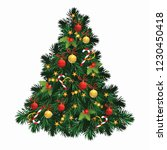 christmas tree  chirstmas toys... | Shutterstock . vector #1230450418
