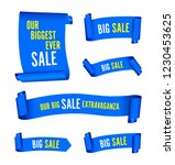 our big sale set of blue banners | Shutterstock .eps vector #1230453625