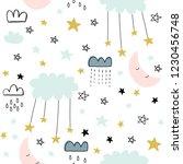 cute seamless unicorn pattern... | Shutterstock . vector #1230456748