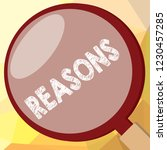 writing note showing reasons.... | Shutterstock . vector #1230457285