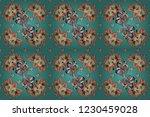 cute floral background. raster...   Shutterstock . vector #1230459028