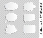 white blank retro speech... | Shutterstock .eps vector #1230462388