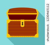 open treasure chest icon. flat... | Shutterstock .eps vector #1230465112