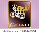 gold badge or emblem with... | Shutterstock .eps vector #1230465568