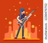 electric guitar icon guitarist... | Shutterstock . vector #1230470752
