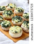 stuffed mushrooms appetizers | Shutterstock . vector #1230473725