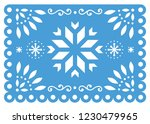 christmas papel picado vector... | Shutterstock .eps vector #1230479965
