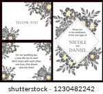 romantic wedding invitation... | Shutterstock .eps vector #1230482242