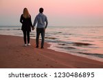 young couple holding each other ... | Shutterstock . vector #1230486895