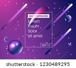 memphis abstract color... | Shutterstock .eps vector #1230489295