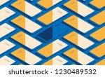 smartphone seamless flat... | Shutterstock .eps vector #1230489532